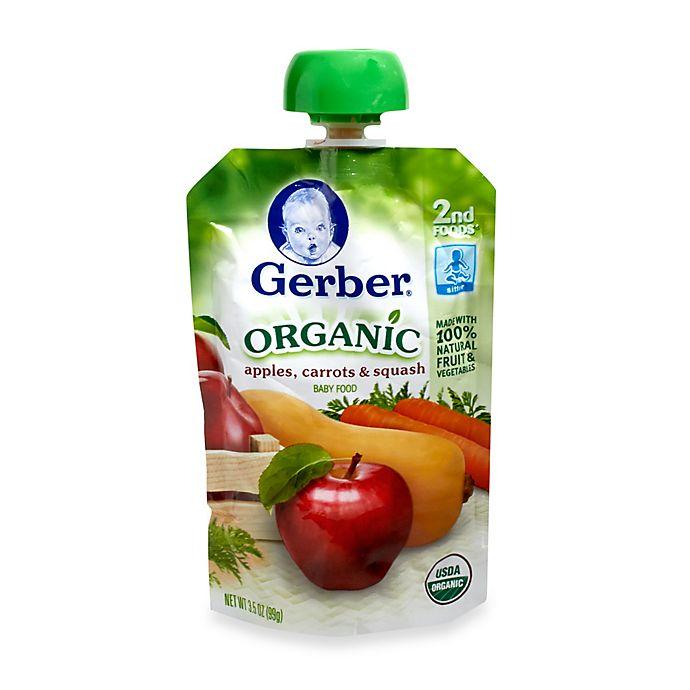 Alternate image 1 for Gerber 2nd Foods 3.5 oz. Organic Purees Apple Carrot Squash