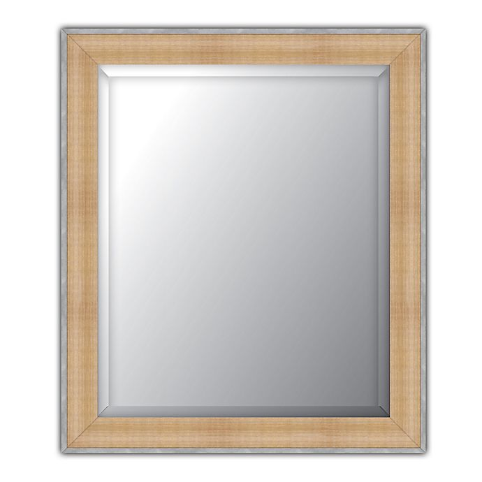 Alternate image 1 for Elsa L Beveled Wall Mirror in Natural/Pewter
