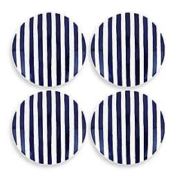 kate spade new york Charlotte Street™ Tidbit Plates in Indigo (Set of 4)