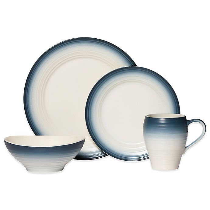 Alternate image 1 for Mikasa® Swirl Ombre Dinnerware Collection in Blue