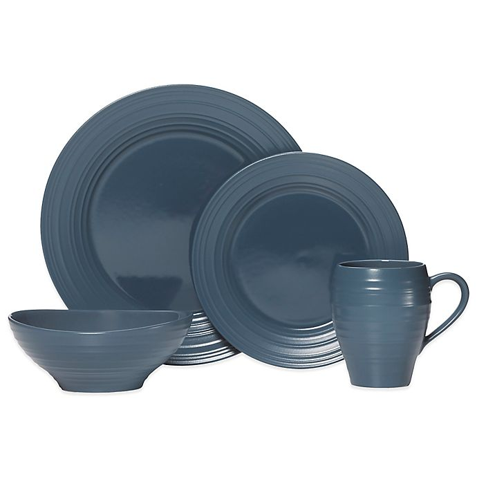 Alternate image 1 for Mikasa® Swirl Dinnerware Collection in Blue