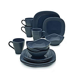 Mikasa® Swirl Square 16-Piece Dinnerware Set in Blue