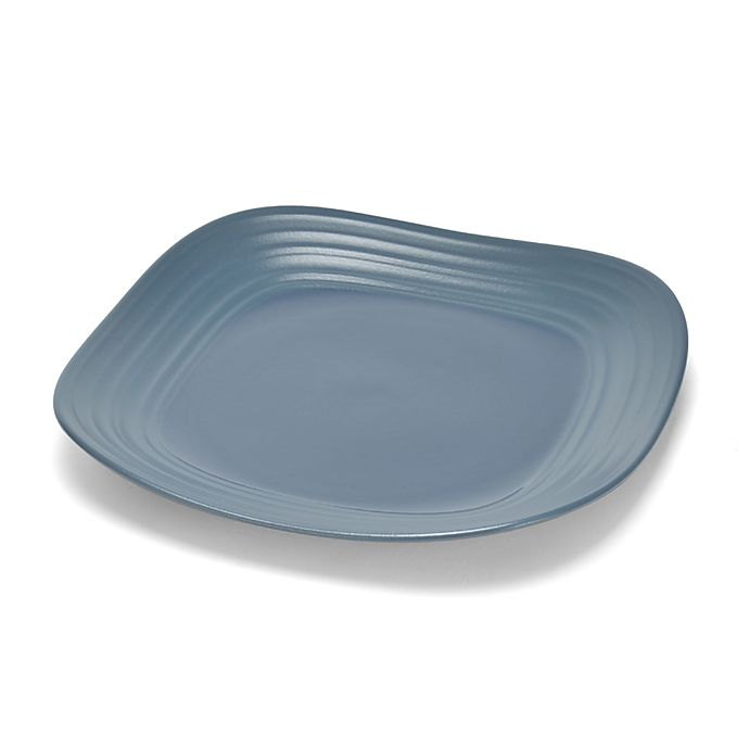 Alternate image 1 for Mikasa® Swirl Square Dinner Plate in Blue