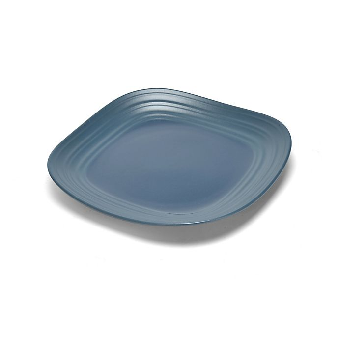Alternate image 1 for Mikasa® Swirl Square Salad Plate in Blue