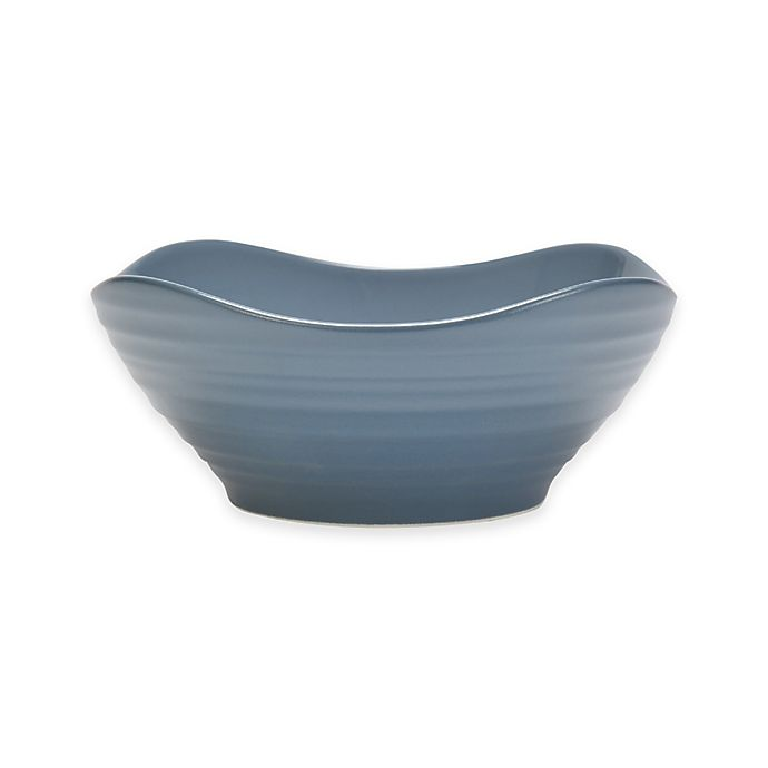 Alternate image 1 for Mikasa® Swirl Square Cereal Bowl in Blue