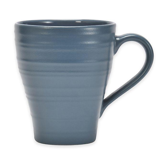 Alternate image 1 for Mikasa® Swirl Square Mug in Blue