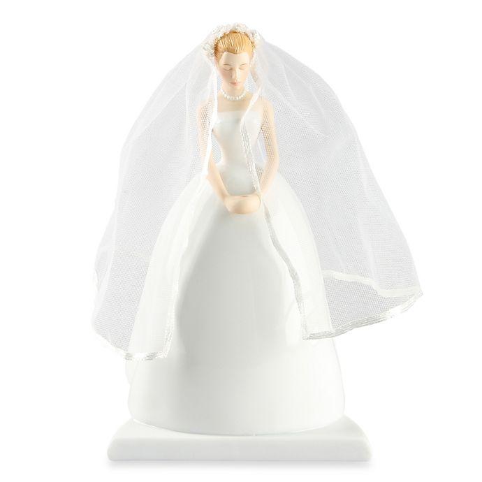 Alternate image 1 for Ivy Lane Design Ty Wilson Caucasian Bride Cake Topper