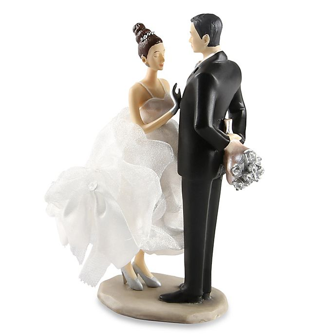 Alternate image 1 for Ivy Lane Design Ty Wilson Caucasian Bride and Groom Cake Topper