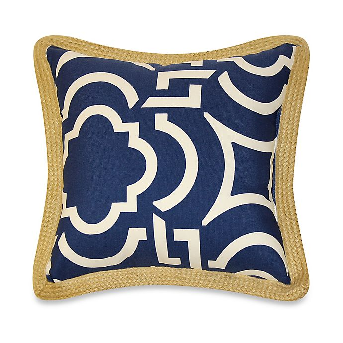 Alternate image 1 for 17-Inch x 17-Inch Outdoor Throw Pillows with Jute Trim in Carmody (Set of 2)