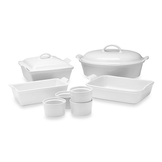 Alternate image 1 for Le Creuset® 10-Piece Bakeware Set in White