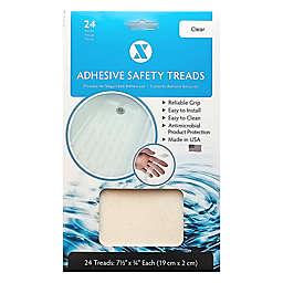 7.5-Inch Clear 24-Pack Applique Bath Tread Strips