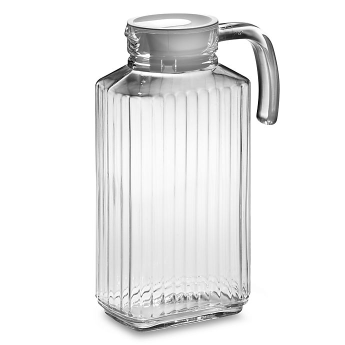 Alternate image 1 for Quadro 57.25-Ounce Glass Pitcher with Lid