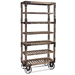 Bassett Mirror Company 7-Shelf Foundry Rack in Weathered Grey