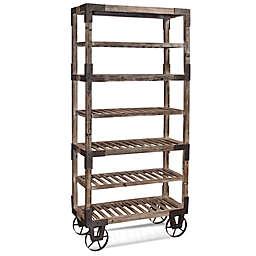 Bassett Mirror Company 7-Shelf Foundry Rack in Weathered Grey