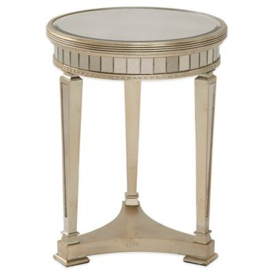 Bassett Mirror Company Borghese Mirrored Round End Table by Bed Bath And Beyond