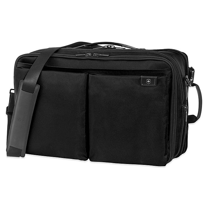 Alternate image 1 for Victorinox® Lexicon Expandable Overnight Laptop Bag in Black