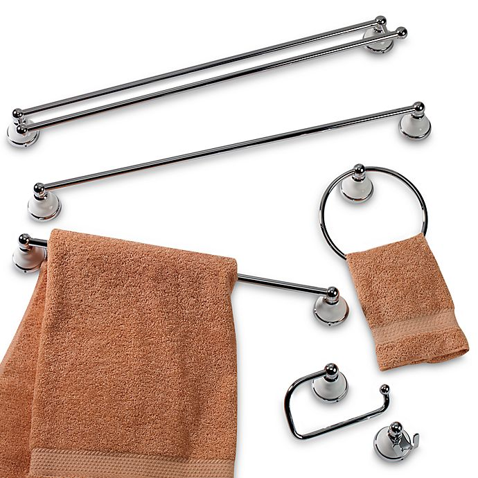 Franciscan Petite Chrome Porcelain 24 Inch Towel Bar Bed Bath