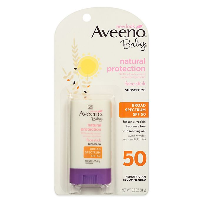 Alternate image 1 for Aveeno® Baby® Natural Protection SPF 50 Face Stick Sunscreen