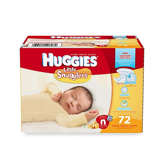 Alternate image 1 for Huggies® Little Snugglers® Newborn 72-Count Disposable Diapers