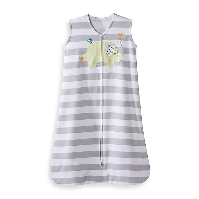 Alternate image 1 for HALO® SleepSack® Cotton Wearable Blanket in Grey Elephant