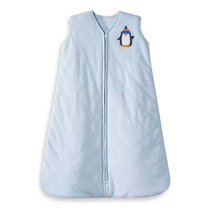 Alternate image 1 for HALO® SleepSack® Winter Weight Wearable Blanket in Blue Penguin