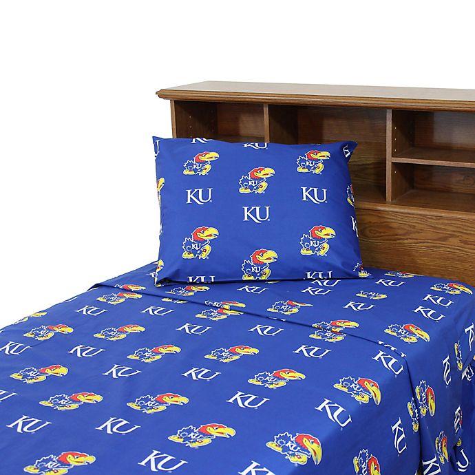 Alternate image 1 for University of Kansas Sheet Set