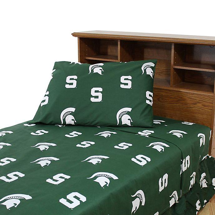 Alternate image 1 for Michigan State University King Sheet Set