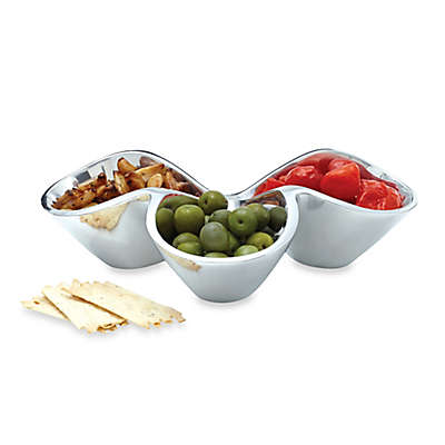 Nambe Bella Triple Condiment Dish