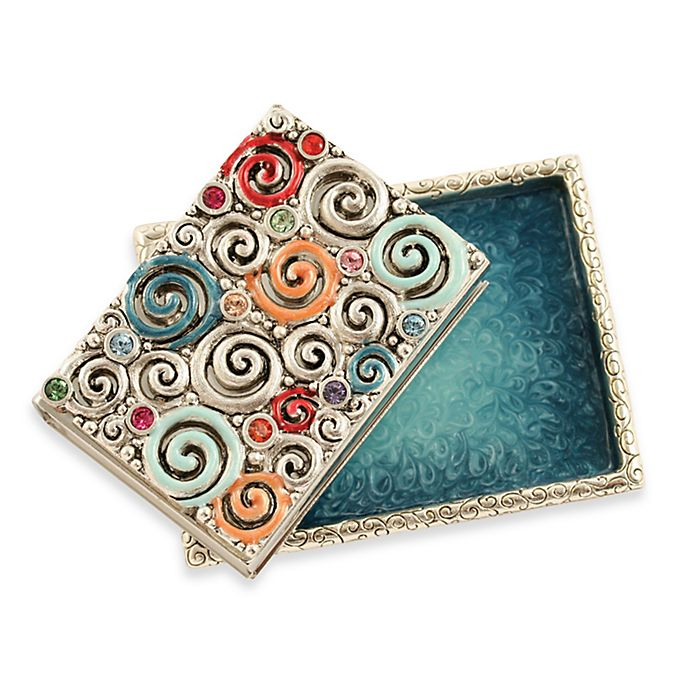 Alternate image 1 for Quest Collection Swirls Match Box Set in Silver