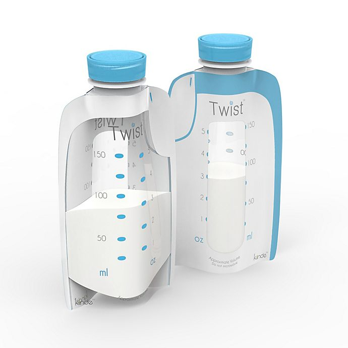 Alternate image 1 for Kiinde™ Twist Pouch 80-Count 6 oz. Direct-Pump Breastmilk Storage Pouches