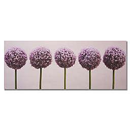 Row of Alliums 16-Inch x 40-Inch Canvas Wall Art