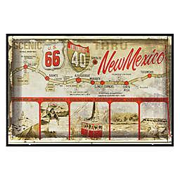 New Mexico Greetings Postcard on Box Wall Art