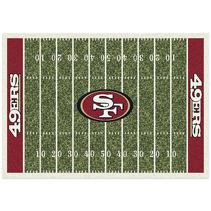 Alternate image 1 for NFL San Francisco 49ers 7-Foot 8-Inch x 10-Foot 9-Inch Large Home Field Rug