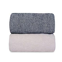 Downtown Company Herringbone Blanket