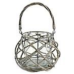 7-Inch x 7-Inch Round Willow Lantern