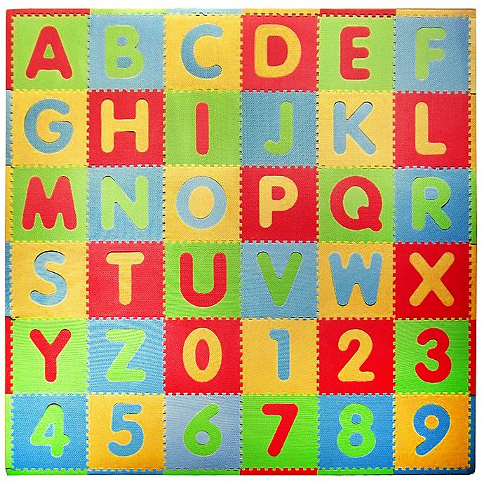 Alternate image 1 for Tadpoles™ by Sleeping Partners ABC 36-Piece Playmat Set in Modern Multicolor