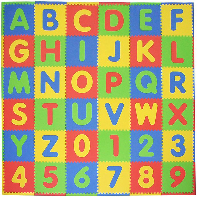 Alternate image 1 for Tadpoles™ by Sleeping Partners ABC 36-Piece Playmat Set in Primary Multicolor