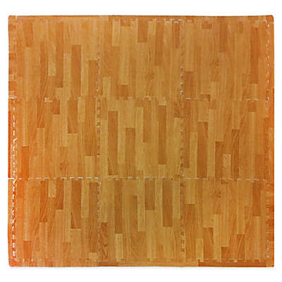 Tadpoles™ by Sleeping Partners Wood Grain 9-Piece Foam Playmat Set in Natural