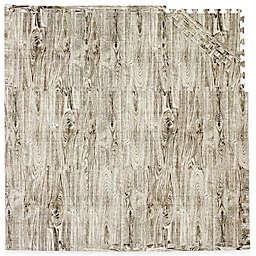 Tadpoles™ by Sleeping Partners 9-Piece Play Mat Set in Wood Grain Black/White