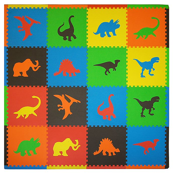 Alternate image 1 for Tadpoles™ by Sleeping Partners Dino 16-Piece Playmat Set