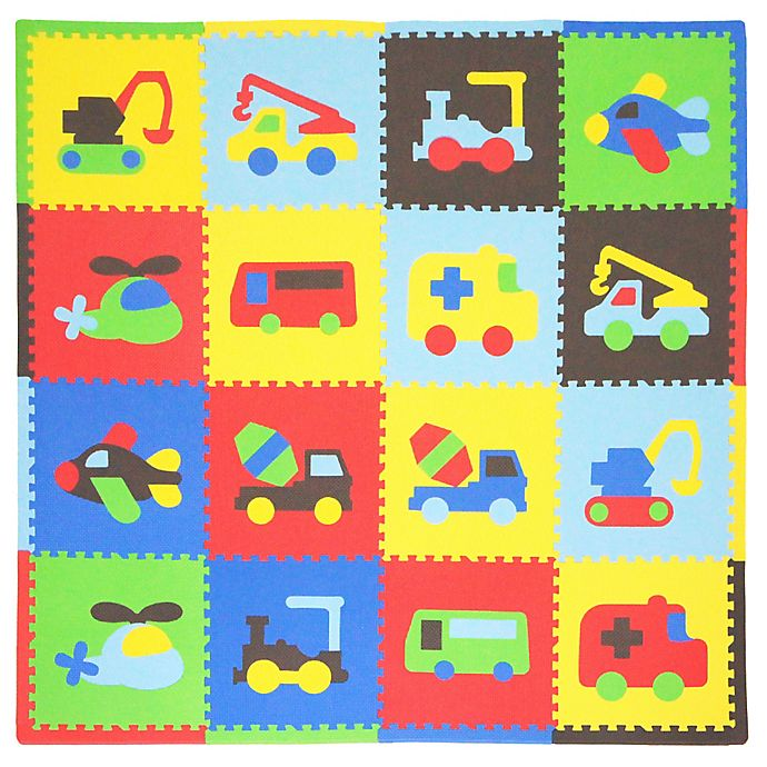 Alternate image 1 for Tadpoles™ by Sleeping Partners Transport 16-Piece Playmat Set