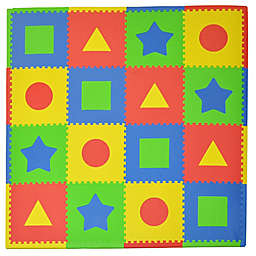 Tadpoles™ by Sleeping Partners First Shapes 16-Piece Playmat Set in Primary Multicolor
