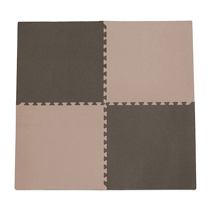 Alternate image 1 for Tadpoles™ by Sleeping Partners 4-Piece Playmat Set in Taupe/Brown