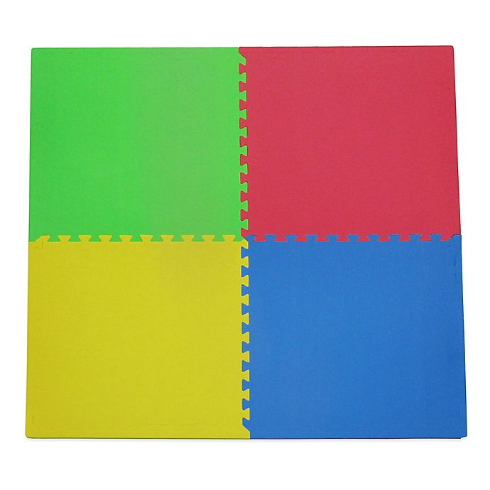 Alternate image 1 for Tadpoles™ by Sleeping Partners 4-Piece Playmat Set in Primary Multicolor