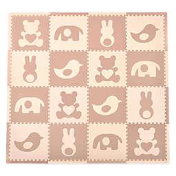 Tadpoles™ by Sleeping Partners Teddy & Friends 16-Piece Playmat Set in Brown/Cream