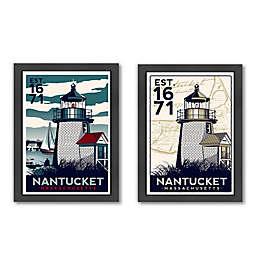 Americanflat Nantucket Lighthouse Digital Print Wall Art