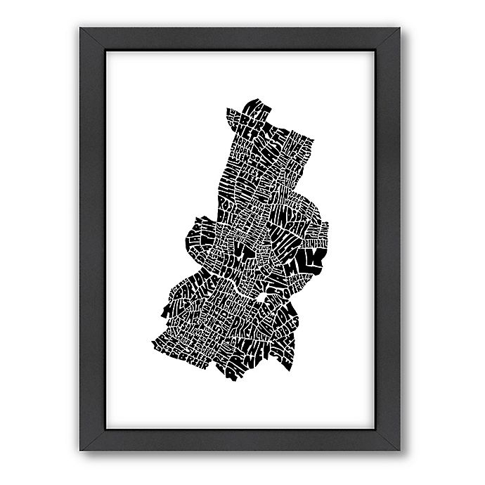 Alternate image 1 for Americanflat Austin Typography Map Digital Print Wall Art in Black and White