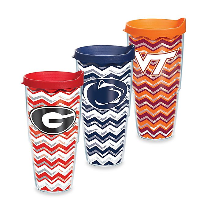 Alternate image 1 for Tervis® Collegiate 24 oz. Chevron Wrap Tumbler with Lid