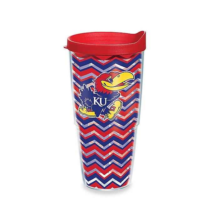 Alternate image 1 for Tervis® University of Kansas Jayhawks 24 oz. Chevron Wrap Tumbler with Lid