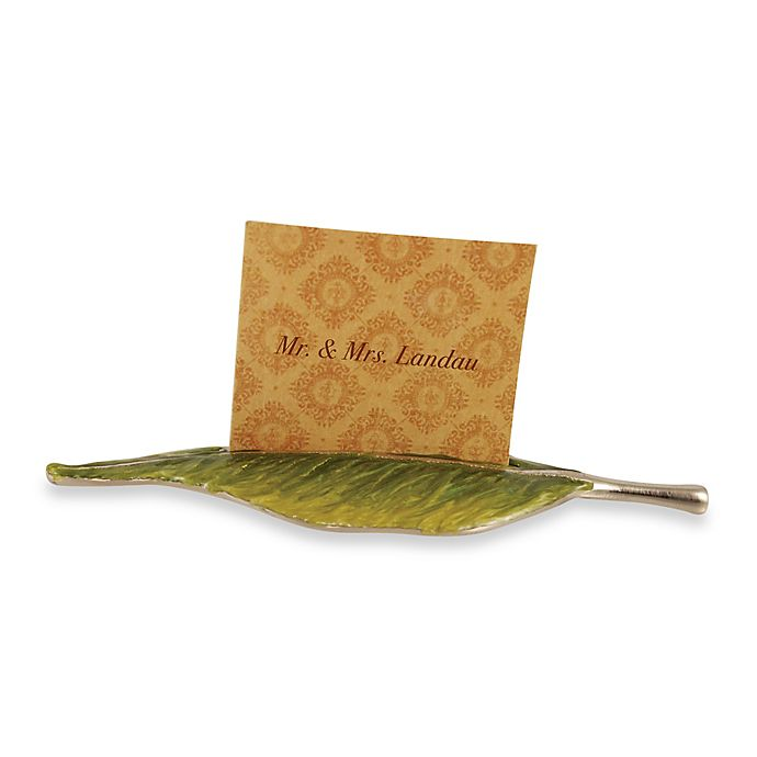 Alternate image 1 for Quest Collection Leaf Place Card Holder 4-Piece Set